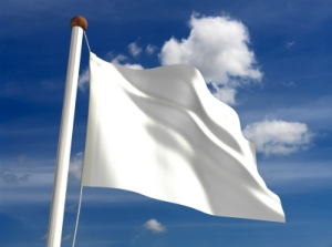 White flag peace
