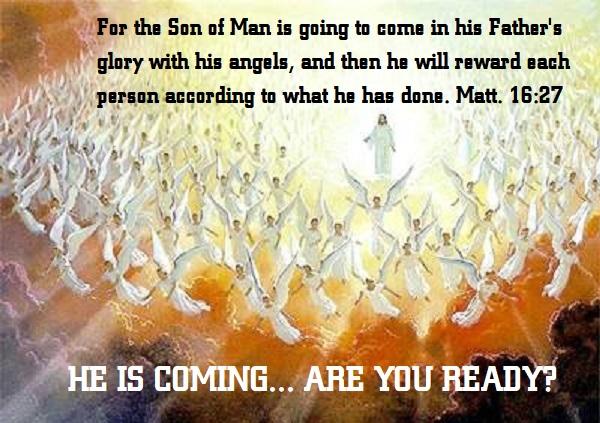 Jesus returns glory