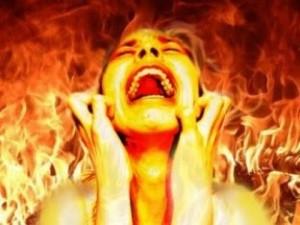 Fire and Brimstone lady scream